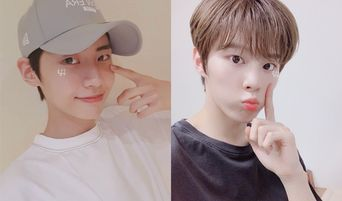Fans Notice 'Lovestagram' Selfies Of UP10TION's Lee JinHyuk And X1's Kim WooSeok