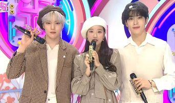 MONSTA X's MinHyuk Chooses The Beautiful Outfits Of Fellow New 'Inkigayo' MCs NCT's JaeHyun & APRIL's NaEun