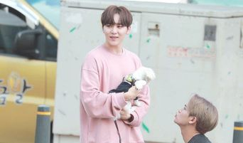 The Male K-Pop Idol Who Brought His Maltese Puppy To A Fanmeeting