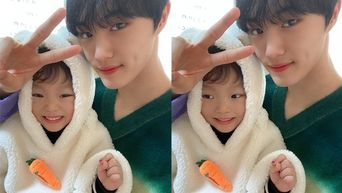 CIX's HyunSuk Youngest Sibling Grabs Attention On His Latest Vlog