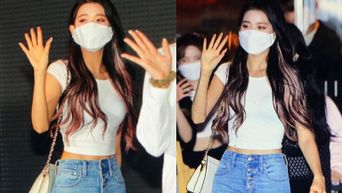 IZ*ONE's WonYoung Impresses Netizens With Her Defined Abs