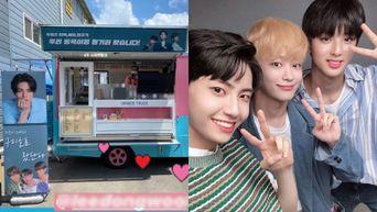 Lee JinHyuk, Kim MinKyu And Lee SeJin Send A Coffee Truck To Lee DongWook