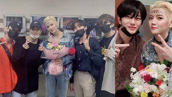 SEVENTEEN Members, Golden Child's BoMin And More Show Support For NU'EST Ren's 1st Musical