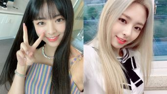 Difference In Image Of ITZY's YuNa With And Without Bangs