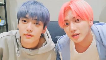 TXT's SooBin And TaeHyun Are Sweet With Pastel Hair Colors