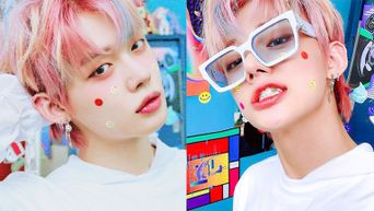 TXT's YeonJun Goes Retro With Smiley Face For 'Minisode1 : Blue Hour'