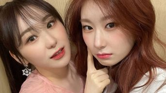 IZ*ONE's ChaeYeon And ITZY's ChaeRyeong Snap Selfies Together In Backstage Of '30th Seoul Music Awards 2021'