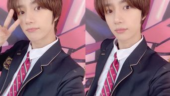 TXT's BeomGyu Looks Fresh And Youthful With His High School Uniform
