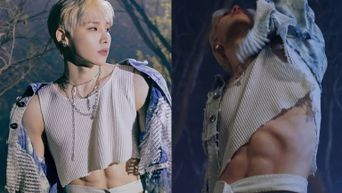 AB6IX's Woong Continues To Cause Fans To Drool Over His Abs