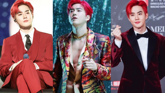 5 Times EXO's SuHo Showed His Power In Red