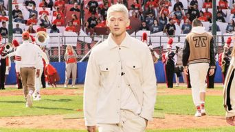 KARD's BM Is Booked And Busy Walking For BOSS X Russell Athletic On Milan Fashion Week