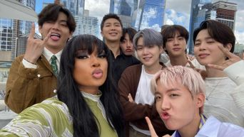 Worlds Collide As We're Taken Behind The Scenes Of BTS And Megan Thee Stallion's Iconic Selfie