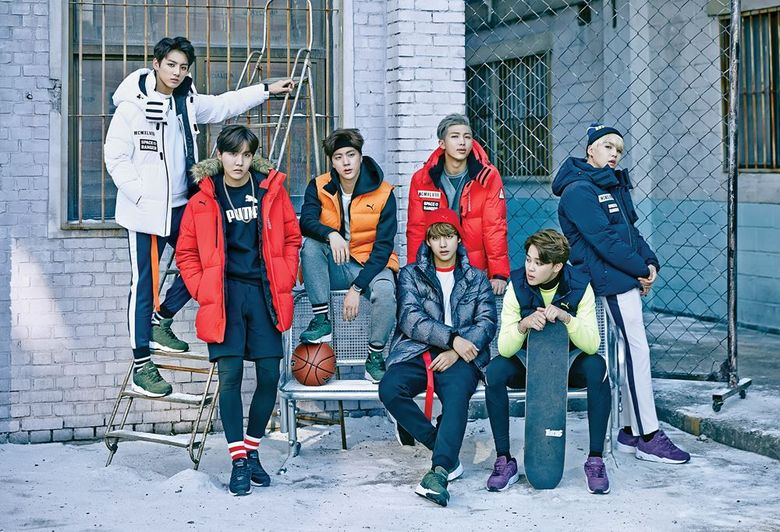 BTS' Seven Guys Model The Iconic PUMA Brand