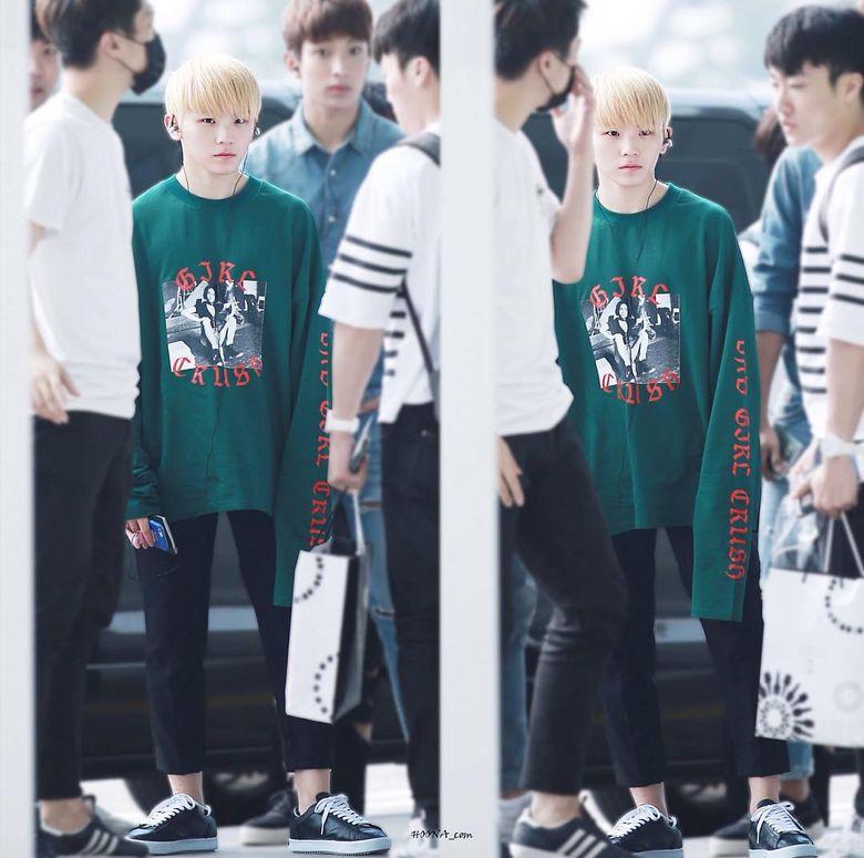 K-Pop Idol With Fabulous Airport Fashion: SEVENTEEN WooZi