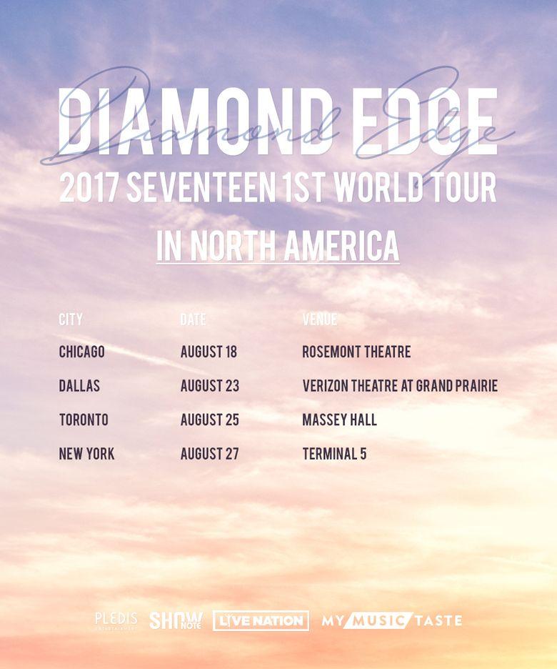 "SEVENTEEN Holds 1st World Tour In North America - ""DIAMOND EDGE"""