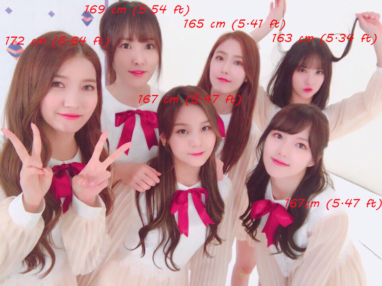 Who Are The Tallest And The Shortest GFriend?