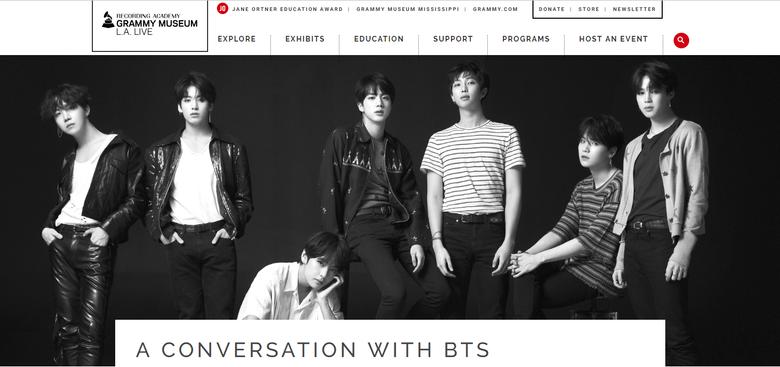 Big Hit Confirms BTS's Attendance In Grammy Museum Event
