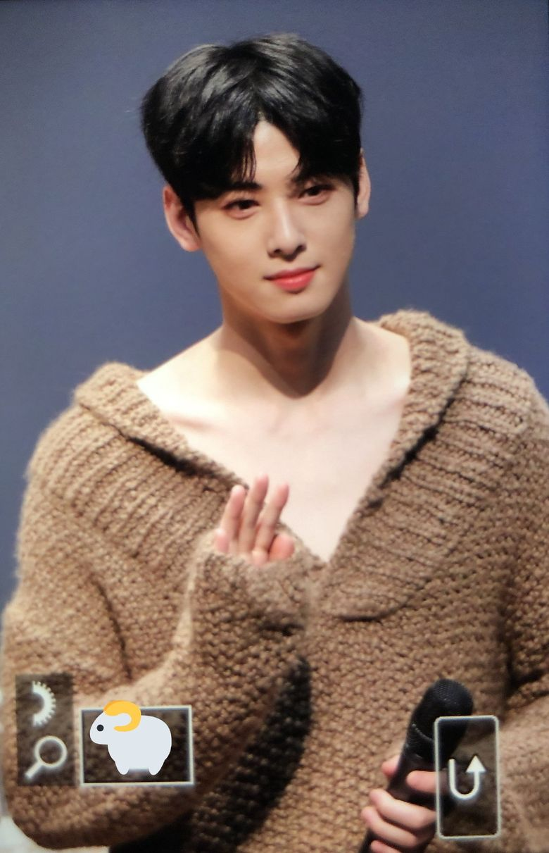ASTRO's Cha EunWoo Causes Fans To Blush With Deep V-Line Knit Sweater