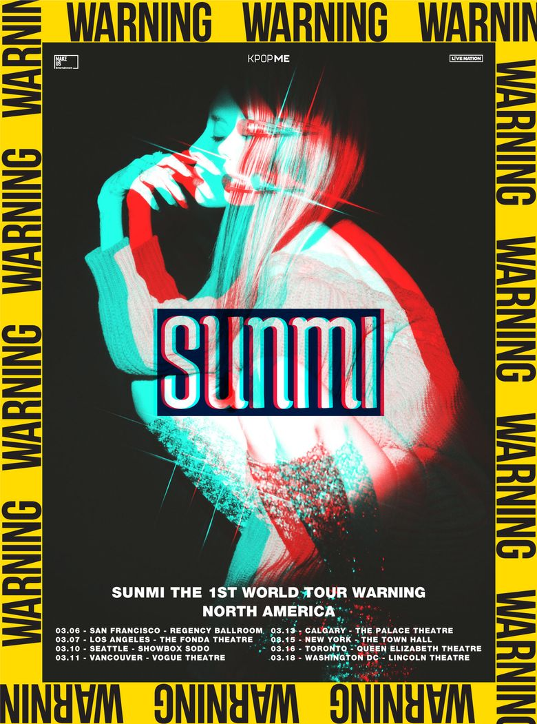 2019 SunMi THE 1ST WORLD TOUR 'WARNING': Cities And Ticket Details