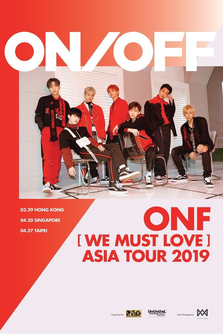 ONF [We Must Love] Asia Tour 2019: Cities And Ticket Details