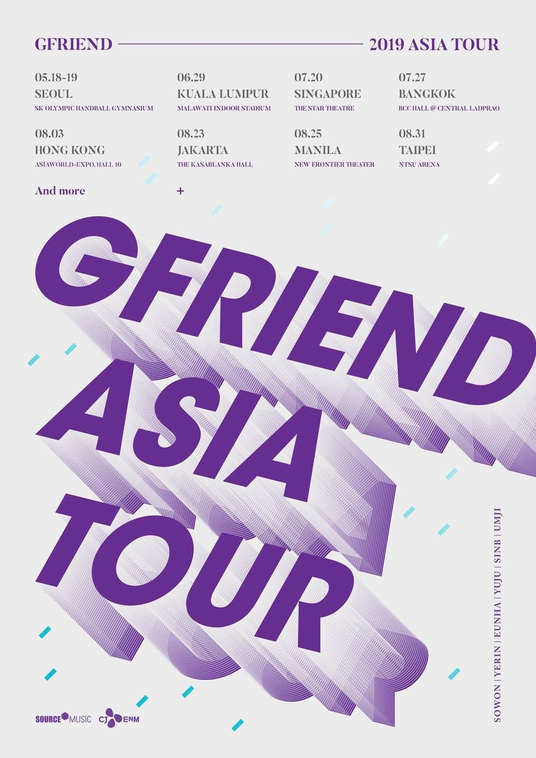 GFriend 2019 Asia Tour: Cities And Ticket Details