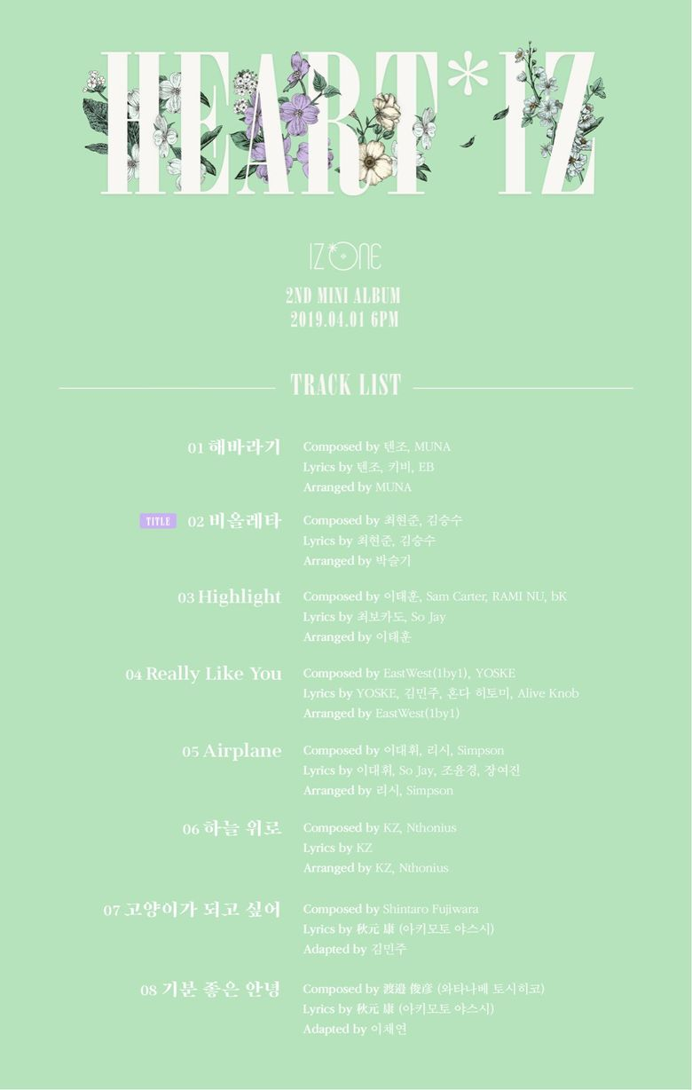 """Participants Of """"Produce 101"""" S1, 2, 3 Revealed To Have Worked For IZ*ONE 2nd Mini Album """"HEART*IZ"""""""