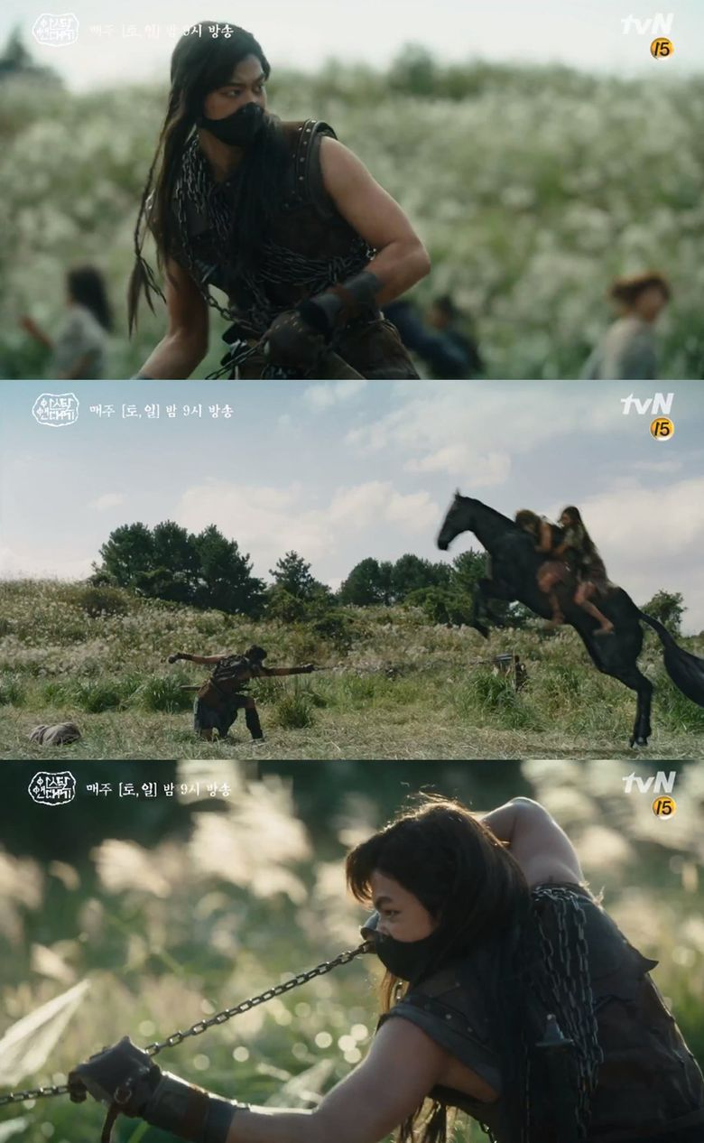 """Everyone Is Curious About Mysterious Masked Yang Cha In """"Arthdal Chronicles"""" Acted By SM Actor Ki DoHun"""