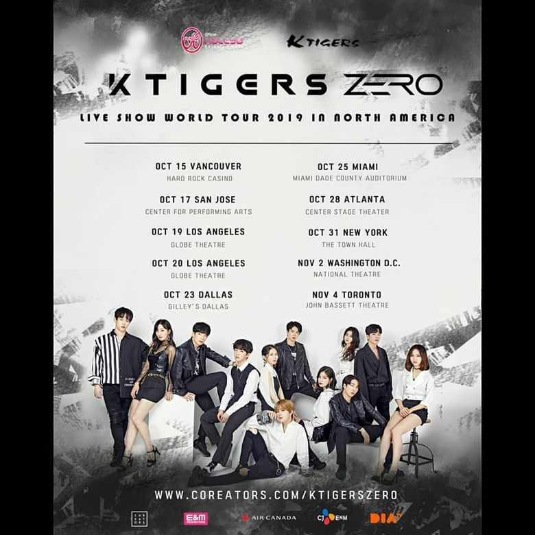 K-TIGERS ZERO World Tour 2019 In North America: Cities And Ticket Details