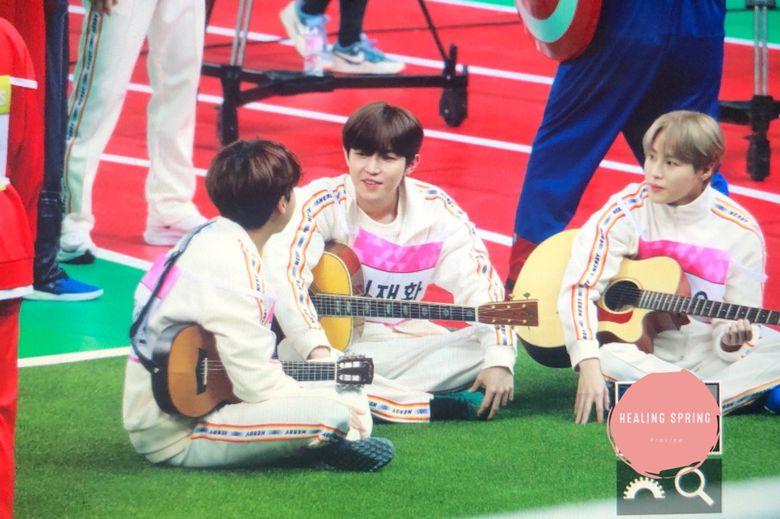 """The 3 Idols Playing Guitar At """"ISAC 2020"""" Seollal Recording"""