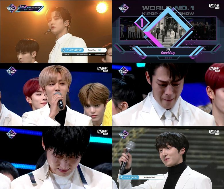 """SF9 1st Ever Win On """"M COUNTDOWN"""" With 'Good Guy' & Trends Worldwide"""