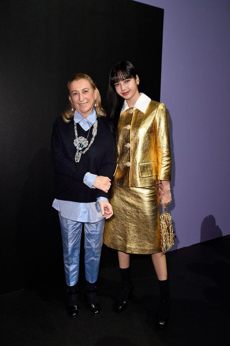 BLACKPINK Lisa Glitters In Gold At Prada Milan Fashion Week