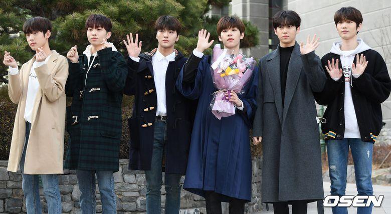 Woollim Boys Gather And Attend High School Graduation Of Kim DongYun