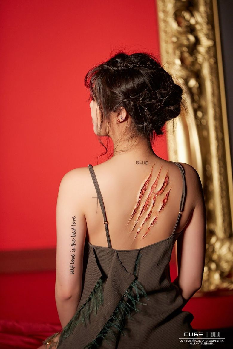 (G)I-DLE SooJin's Lovely Tattoos