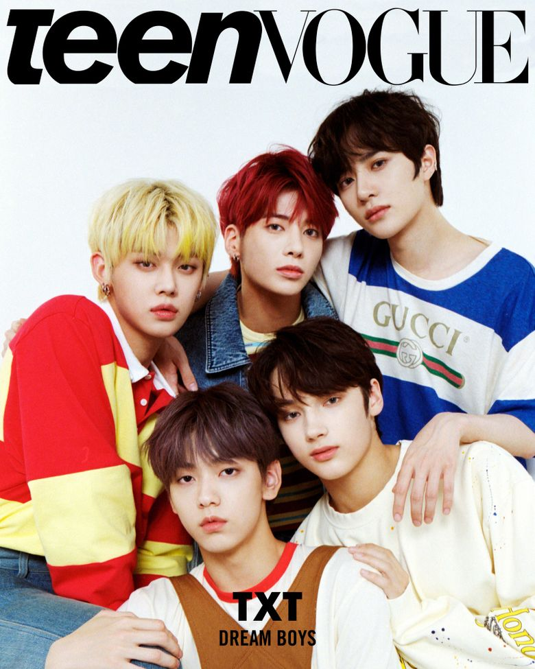 """Netizens React To TXT On The Cover Of """"Teen Vogue"""""""
