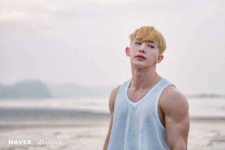 WonHo Takes Breathtaking Pictures By Sunset Beach