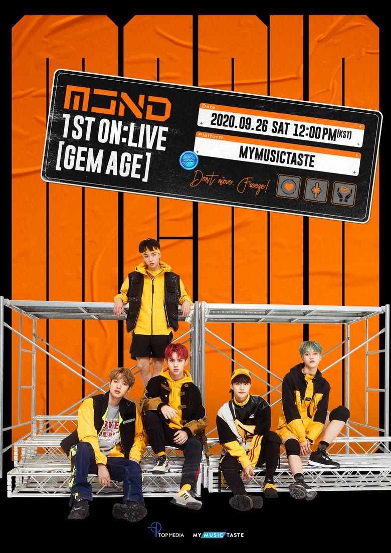 MCND 1ST ON:LIVE [GEM AGE] Online Concert : Live Stream And Ticket Details