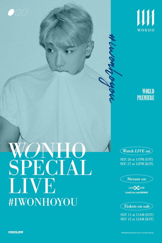 WONHO SPECIAL LIVE #IWONHOYOU : Live Stream And Ticket Details