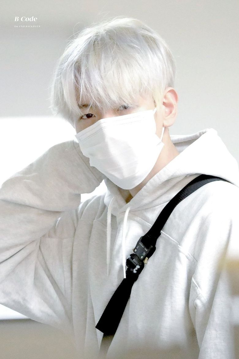 EXO's BaekHyun Appears With Icy White Hair For Schedule After Twitter Vote