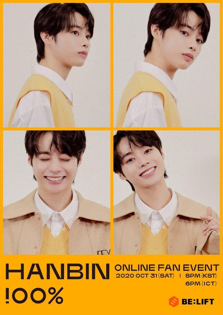 "HanBin Online Fan Event ""HANBIN !00%"": Live Stream And Ticket Details"