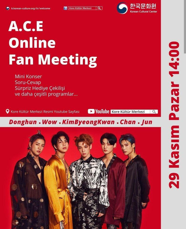 A.C.E Online Fan Meeting 2020 (Turkey): Live Stream Details