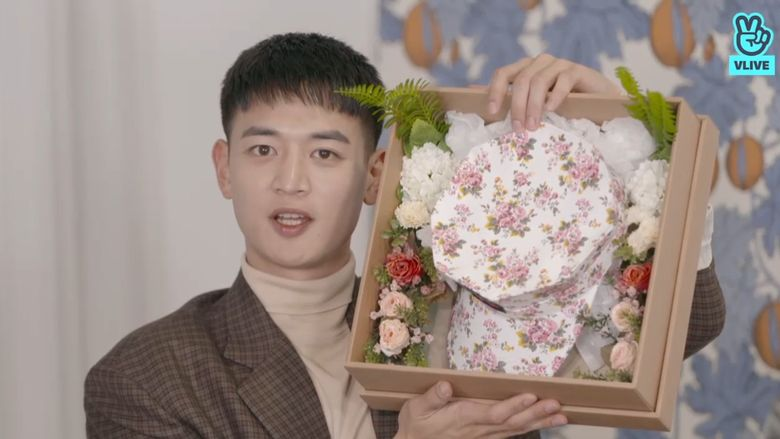 SHINee's MinHo Prepares Floral Marine Hats & More To Give To Fans Following Discharge
