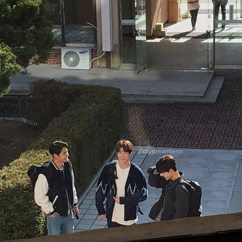 """NCT's JaeHyun, UP10TION's Lee JinHyuk & Bae HyunSung Spotted Filming For Drama """"Dear.M"""""""