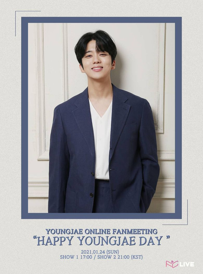 """YoungJae Online Fanmeeting """"HAPPY YOUNGJAE DAY"""": Live Stream And Ticket Details"""