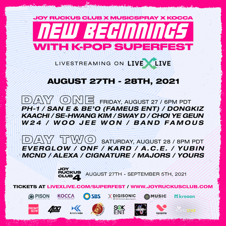 """Joy Ruckus Club 4 """"New Beginnings With K-Pop SuperFest"""": Lineup And Ticket Details"""