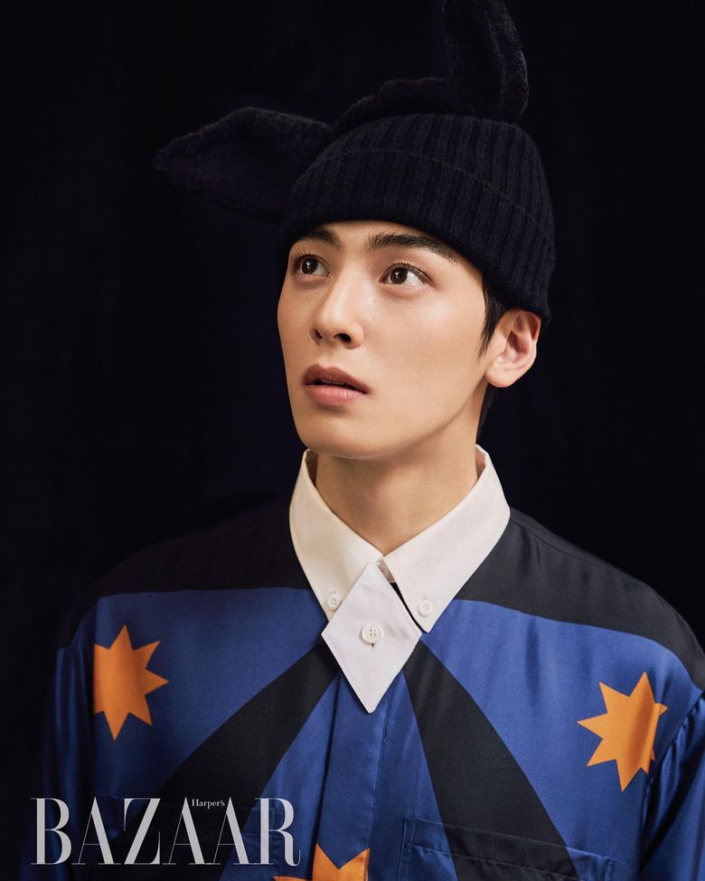 ASTRO's Cha EunWoo Rocks Androgynous Fashion In His Latest Photoshoot